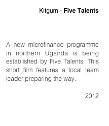 Kitgum - Five Talents