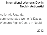 International Women's Day in Nebbi - ActionAid